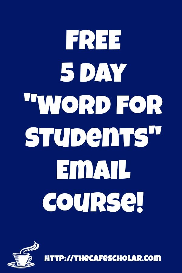 "FREE ""Word for Students"" Email Course!"